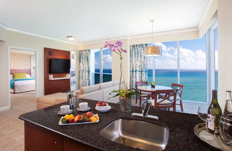 Guest suite at Trump International Beach Resort.
