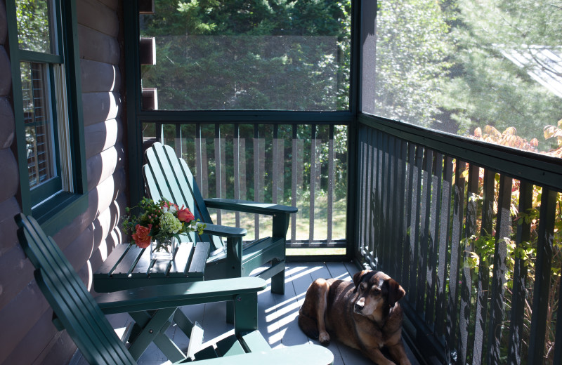 Cabin Porch (Pet Friendly) at Point Lookout Resort and Conference Center