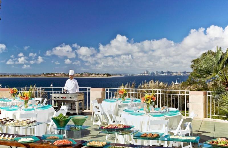 Dining by the pool at Loews Coronado Bay Resort.