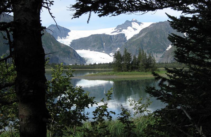 View from Kenai Fjords Glacier Lodge.