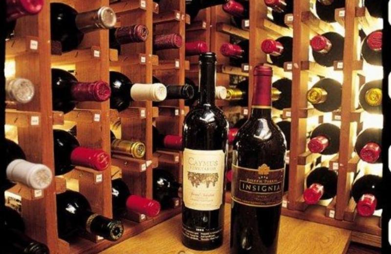 Wine cellar at Stonehedge Inn and Spa.