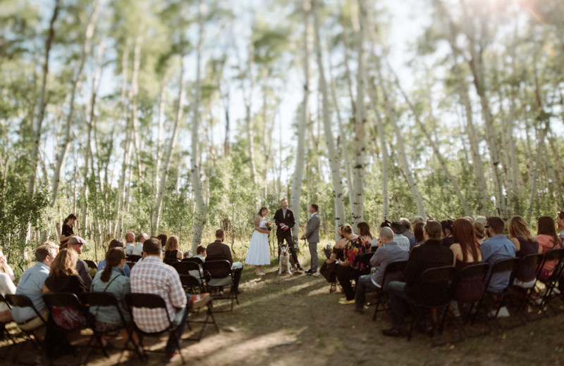 Weddings at The Cabins at Historic Columbine.