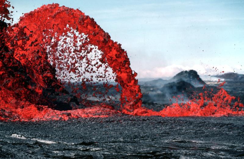 Lava flow at Hale 'Ohu Bed & Breakfast.