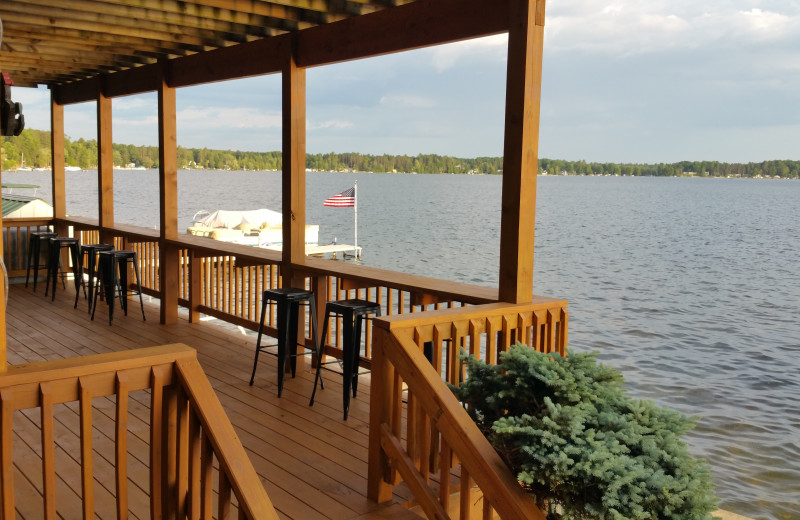 Deck at Lake Cabins Resort.