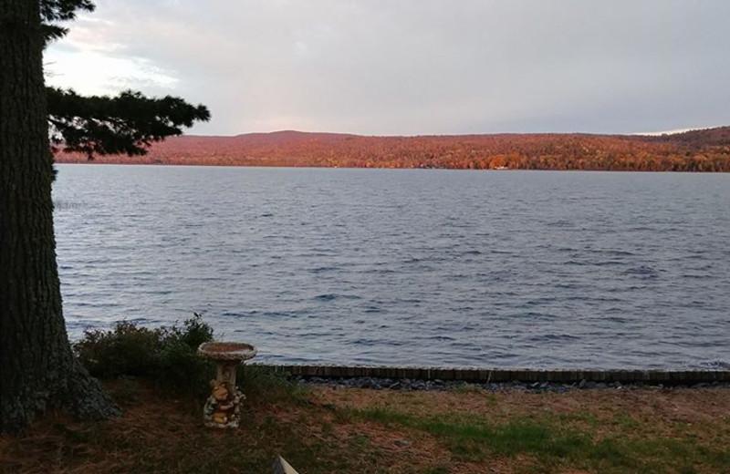 Lake view at Wilderness Resort Cabins & Campground.