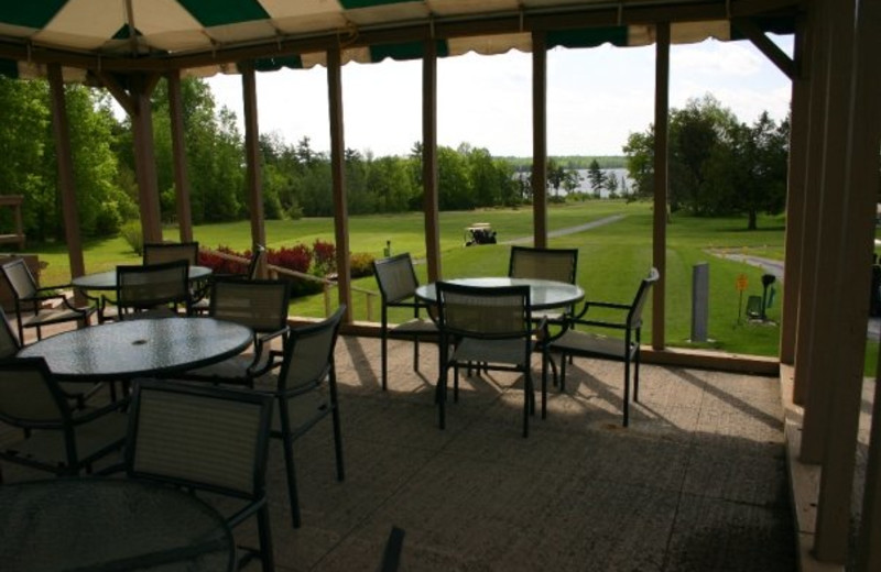 Patio at Bluff Point Golf Resort.