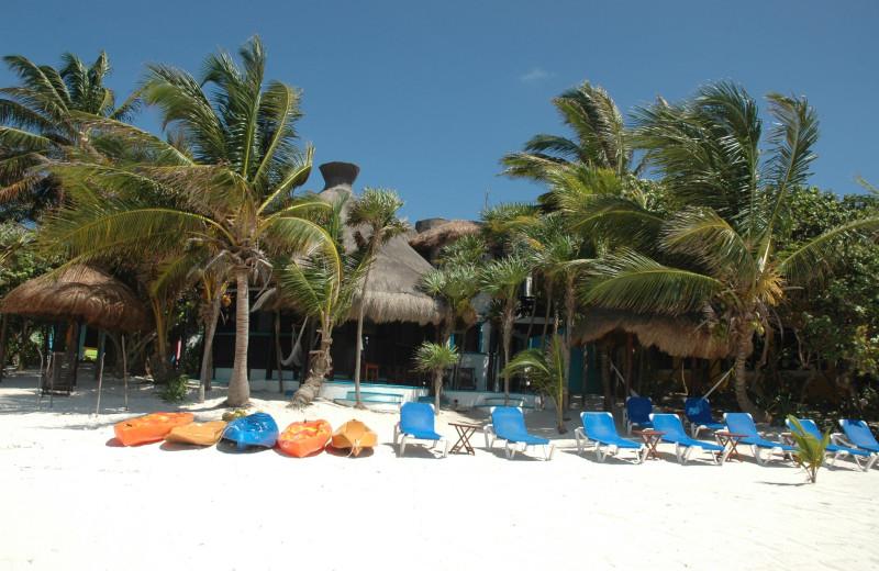 Exterior view of Casa Playa Maya.
