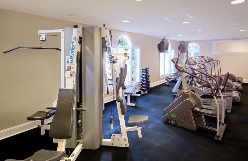 Fitness center at Sea Trail Resort.