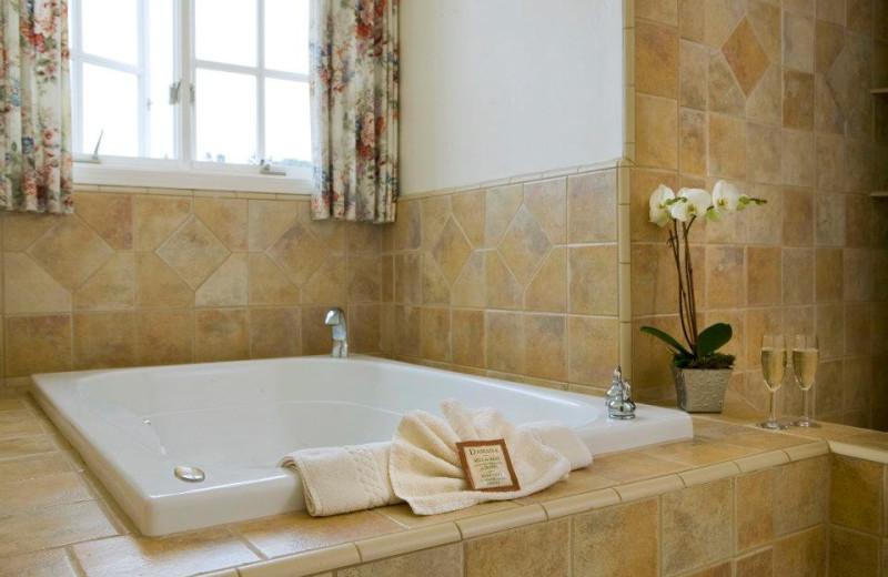 Guest bathroom at Seal Cove Inn.