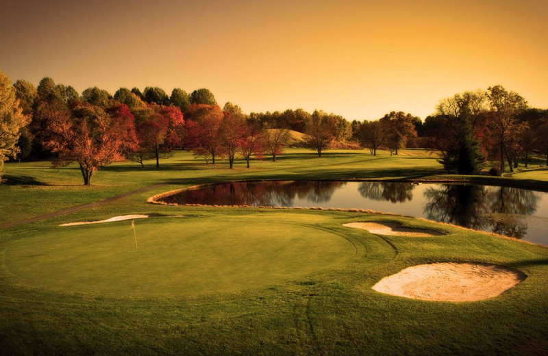 Golf at Turf Valley Resort.