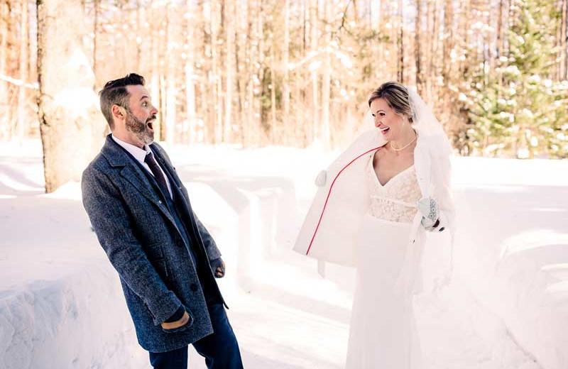 Winter weddings at Izaak Walton Inn.