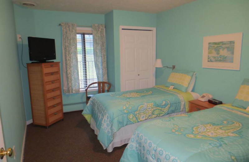 Vacation rental bedroom at Northern Quarters Management.
