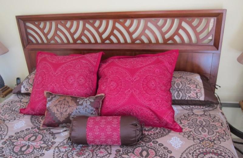 Vacation rental bedroom at Maui Kamaole.