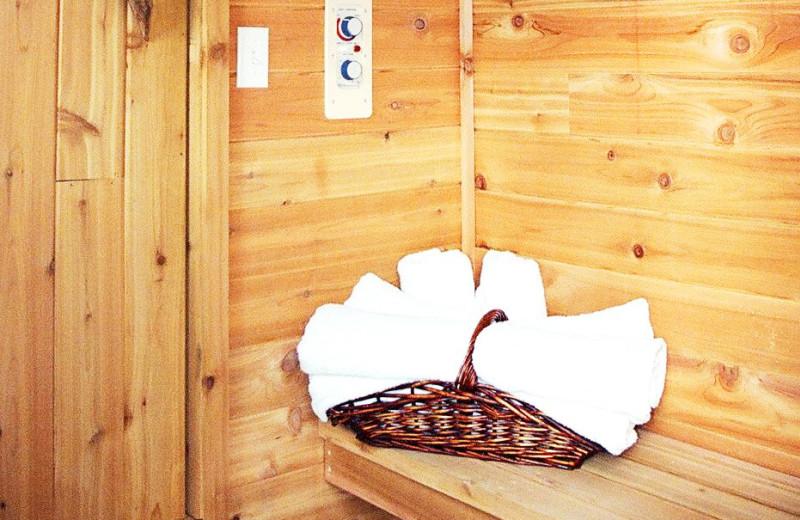 Sauna at Kenai River Drifters Lodge.