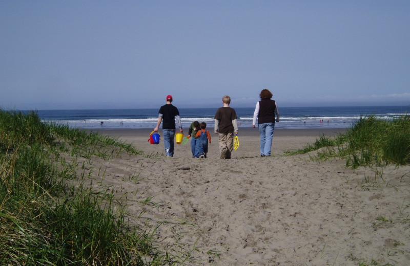 Walk along the beach at Sand & Sea Condominums.