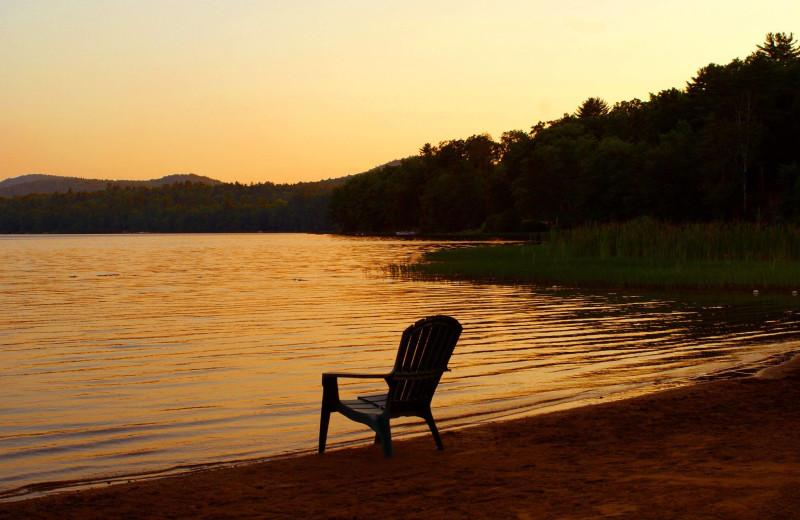 Sunset at Twin Pines Resort.