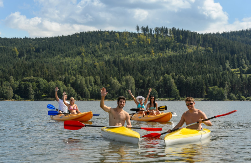 Kayaking at Big Bear Vacations.