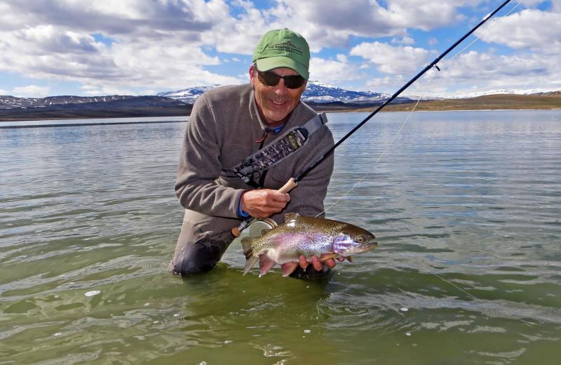 Fishing at Monster Lake.