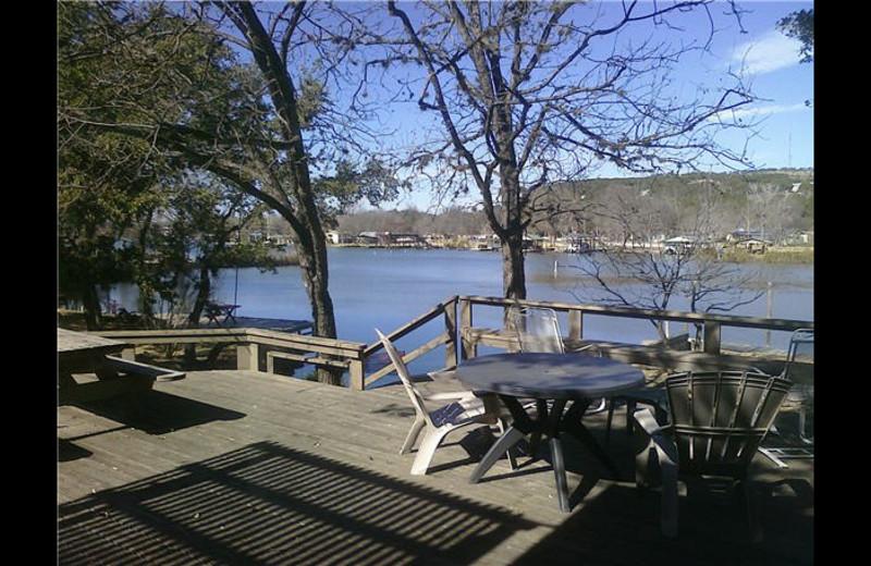 Lake view at Carico's Lake House on LBJ.