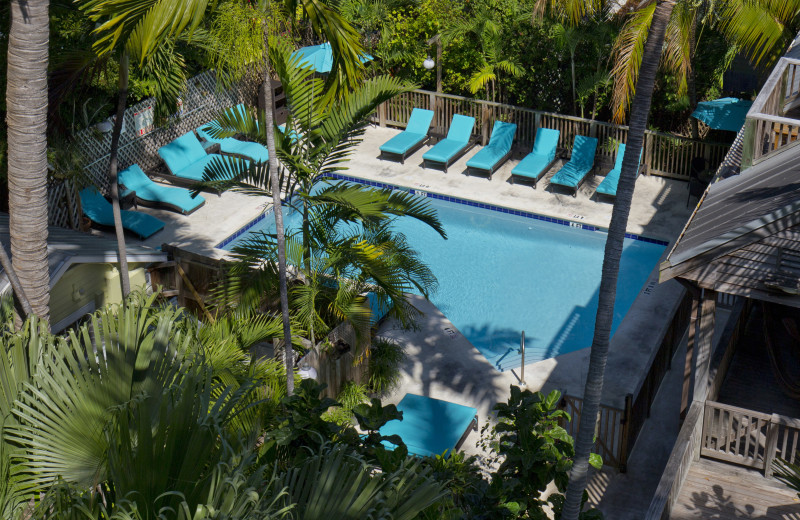 Outdoor pool at Island City House Hotel.
