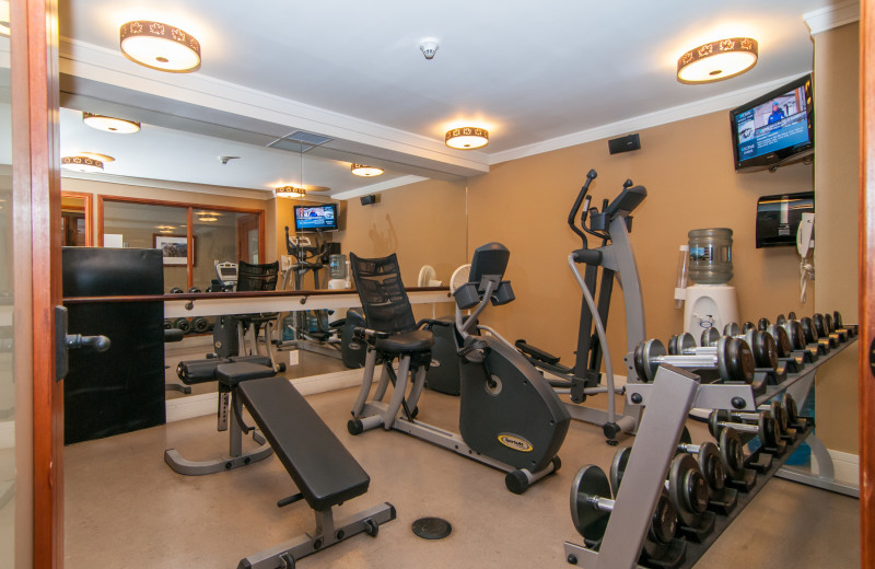 Fitness room at The Fox Hotel & Suites in Banff.