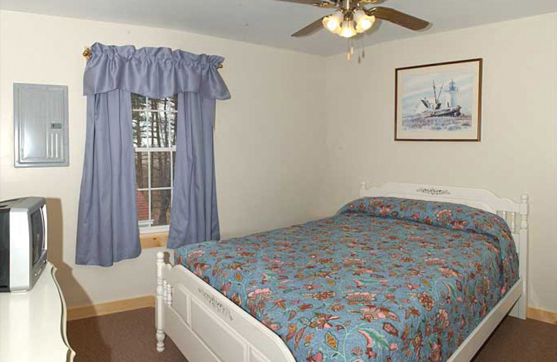 Guest bedroom at Belle of Maine Vacation Village.