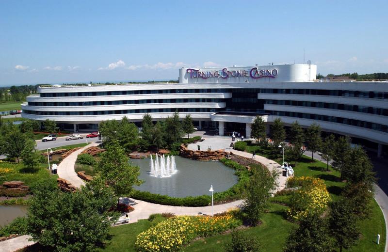 Exterior view of Turning Stone Resort Casino.