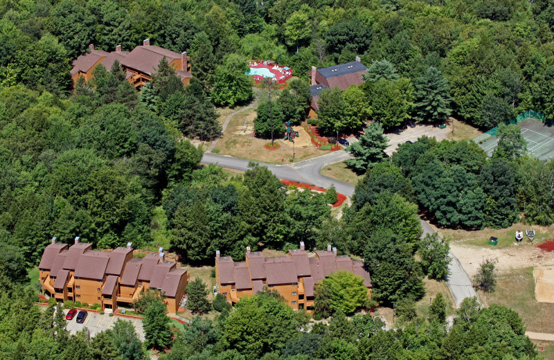 Aerial view of Summit Resort.