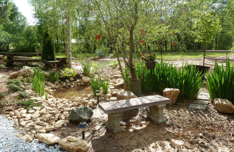 Garden at Mountain Rest Cabins and Campground.