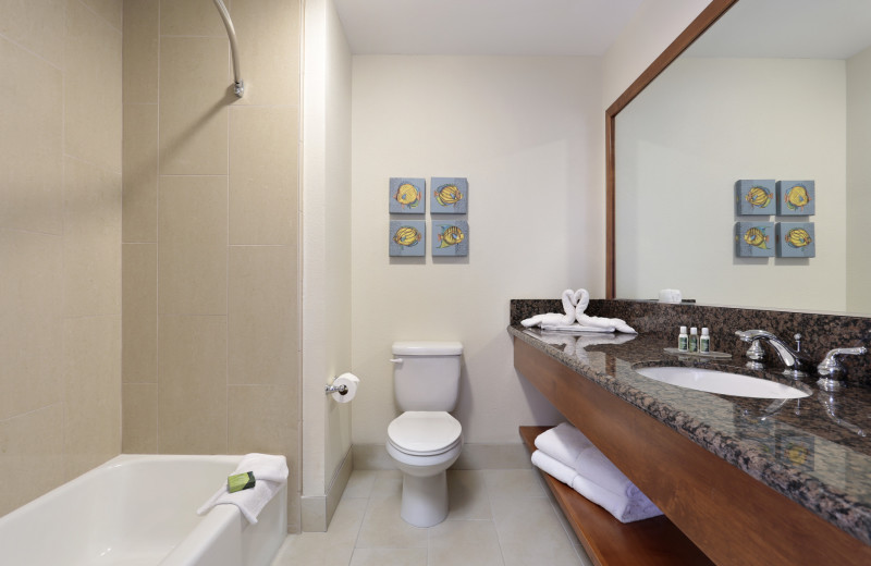 Spacious in-room bathrooms at Best Western Plus Shelter Cove Lodge