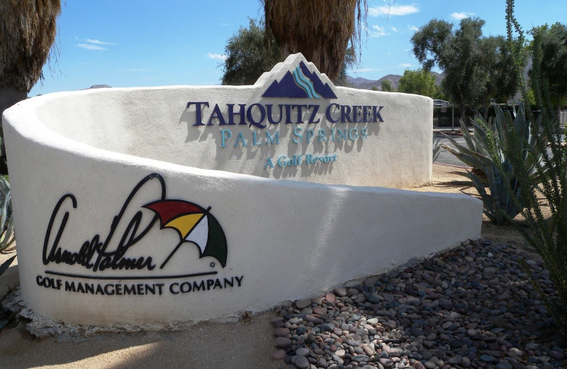 Tahquitz Creek sign.