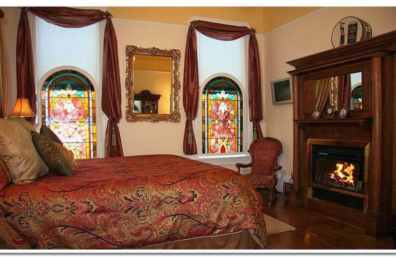 Guest bedroom at LA Belle Epoque.