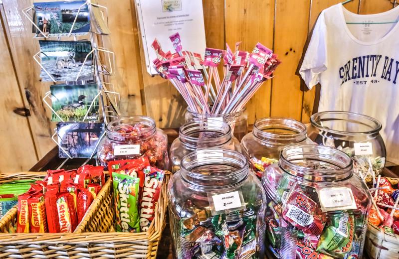 Gift shop at Serenity Bay Resort.