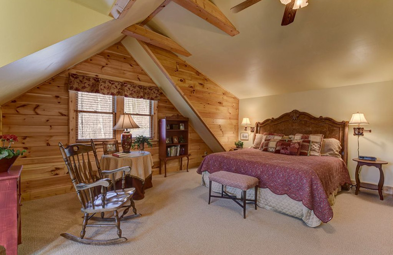 Rental bedroom at Smoky Mountain Retreat Realty.