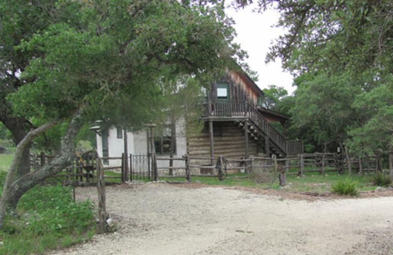 Civil War cabin at Way of Wolf B & B.