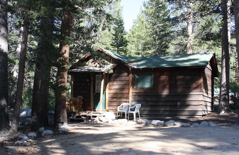 Cabin exterior at Rock Creek Lodge.