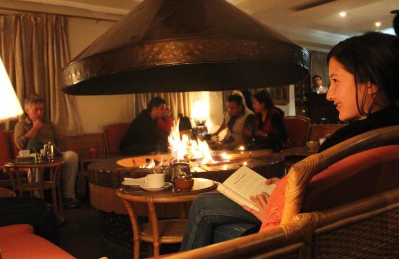 Dining at Dhulikhel Lodge Resort.