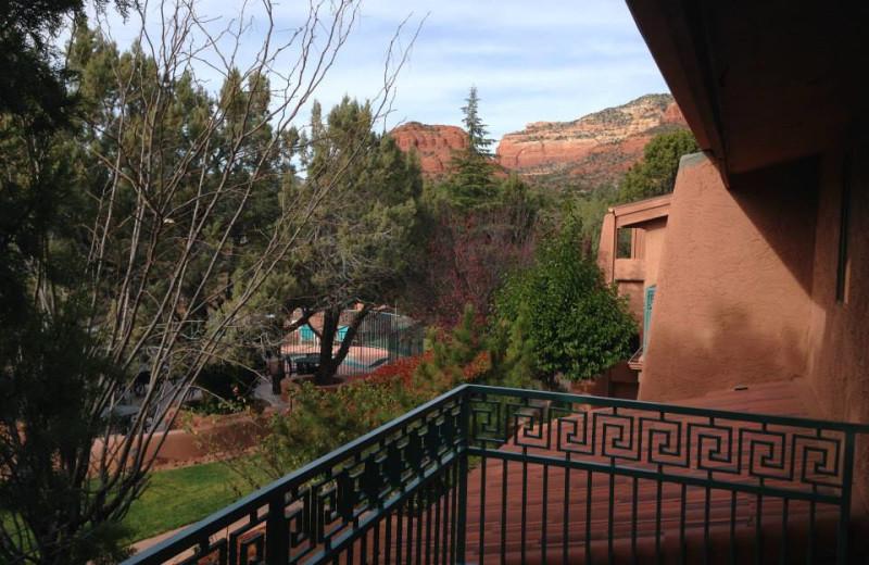Balcony view at Casa Sedona.