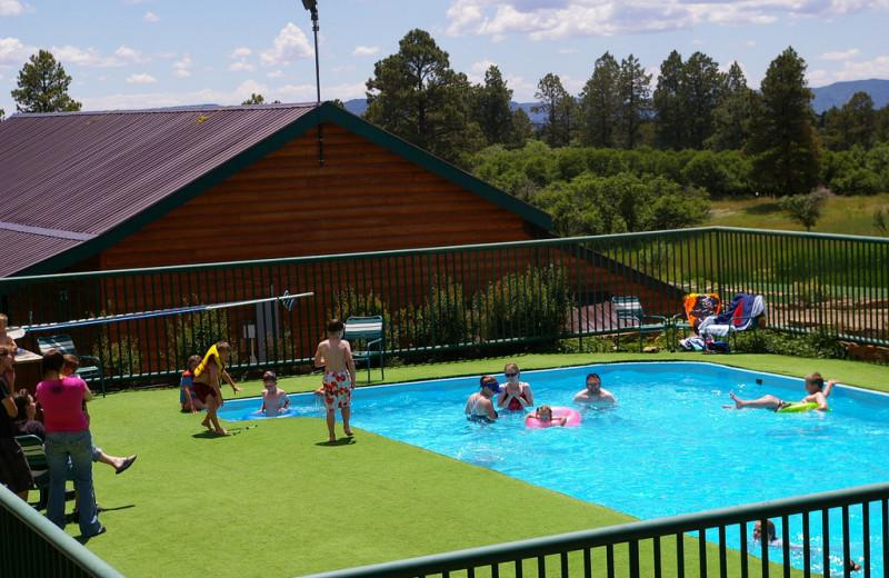 Outdoor pool at Echo Basin Cabin And RV Resort.
