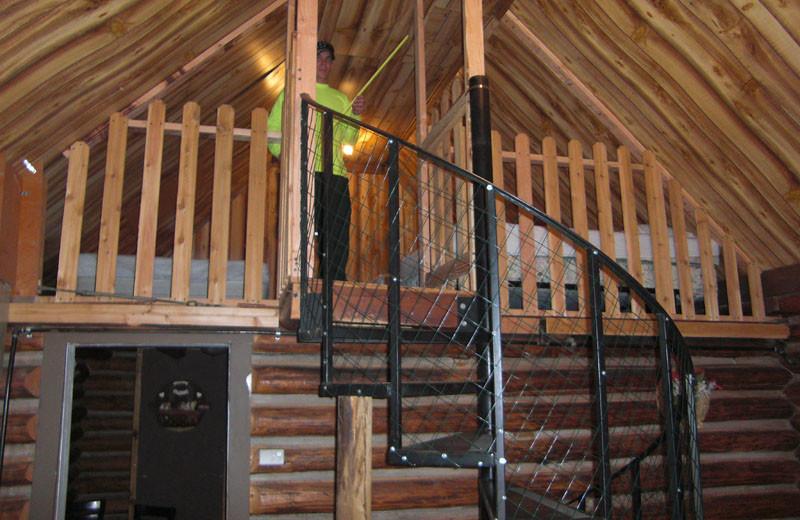 Cabin loft at North Shore Lodge & Resort.