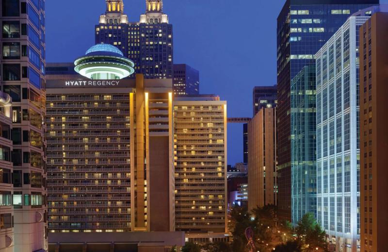 Exterior view of Hyatt Regency Atlanta.