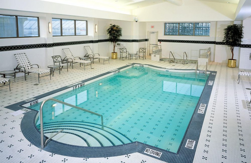 Indoor pool at Dover Downs Hotel & Casino.