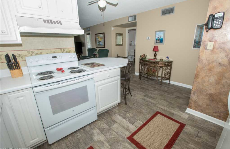 Kitchen at Holiday Isle Properties - Dolphin Point 103B.