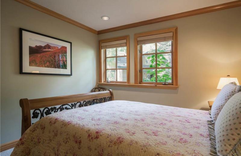 Rental bedroom at Canyon Services Vacation Rentals.