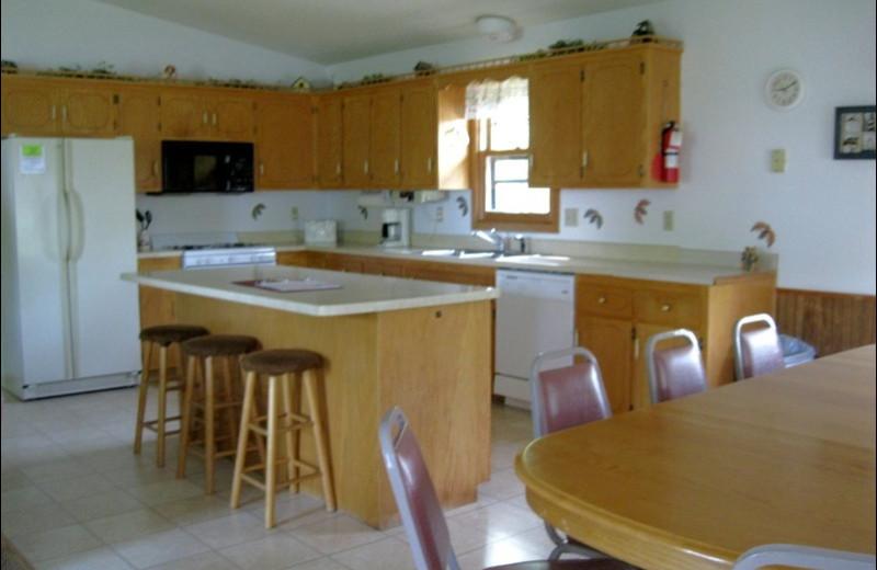Lodge kitchen at Betsy Ross Resort.