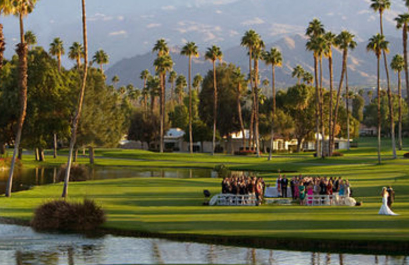 Outdoor Wedding Venue at Rancho Las Palmas Resort