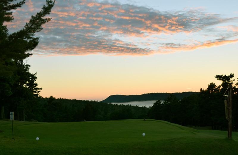 Golf course at Keweenaw Mountain Lodge.