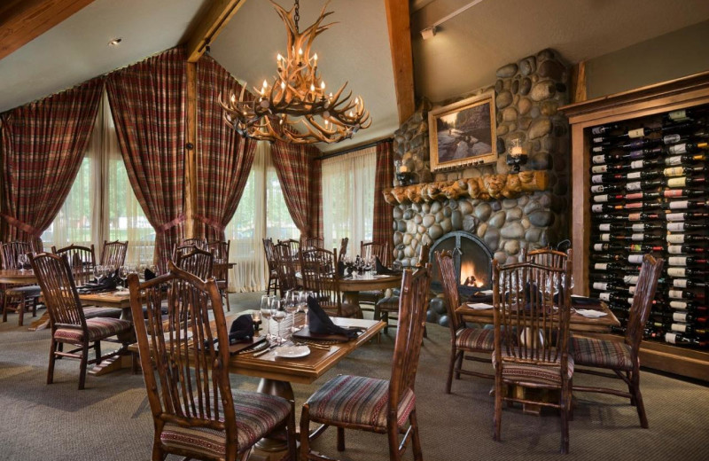 Dining at Rusty Parrot Lodge.