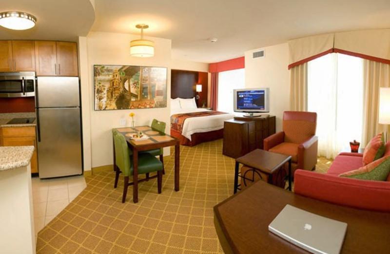 Guest room at Residence Inn by Marriott San Diego Oceanside.