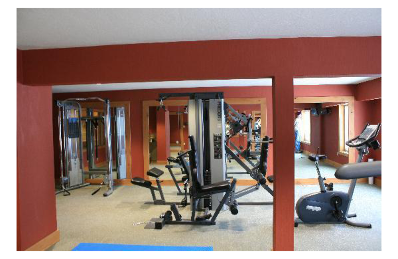 Fitness room at Grand Lodge at Brian Head.